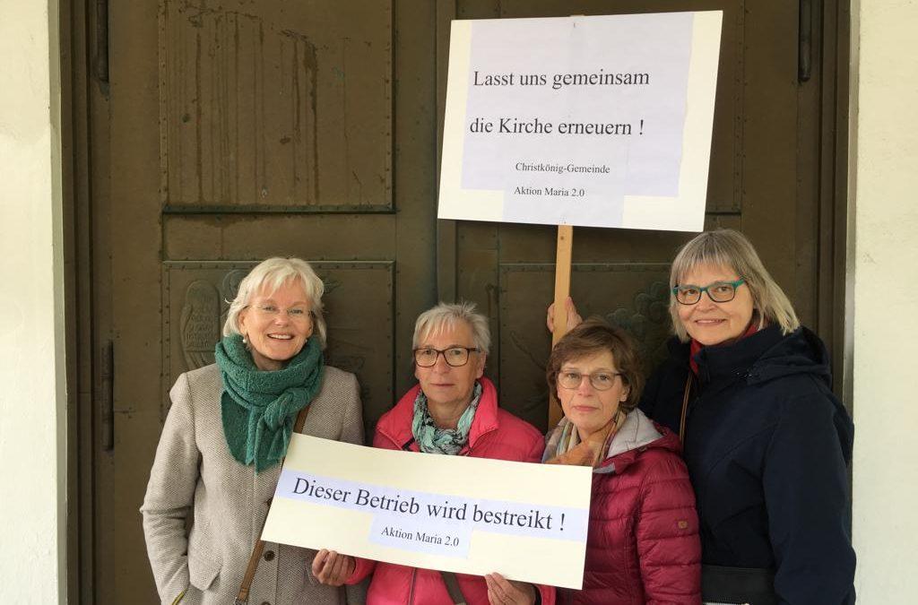 """""""Maria 2.0"""" – Frauen der Christkönig-Gemeinde treten in den Kirchenstreik"""