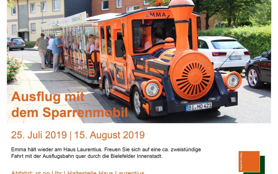 Ausflug mit dem Sparrenmobil: 25.7. und 15.8.2019
